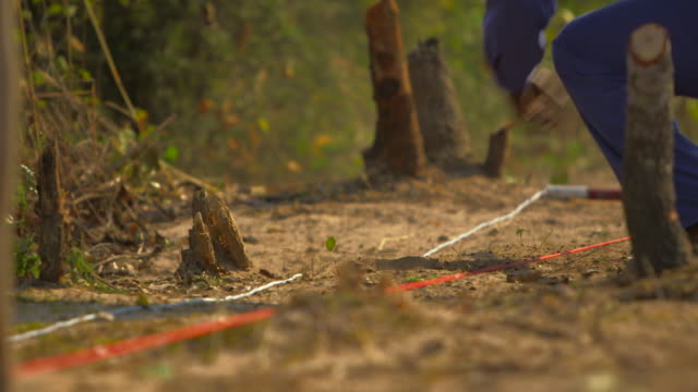 minesweeper searching for mines in angola - minesweeping stock videos and b-roll footage