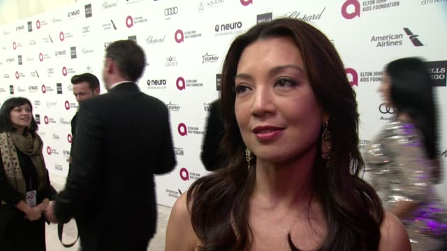 ming na at the 23rd annual elton john aids foundation academy awards viewing party sponsored by chopard, neuro drinks and wells fargo on february 22,... - ming na stock videos & royalty-free footage