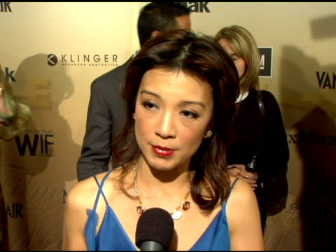 ming na on coming to the awards show to present, on why the organization is so important to her, on it being a rare occasion for her to leave her... - ming na stock videos & royalty-free footage