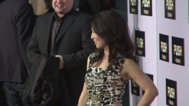ming-na at the 'push' premiere at los angeles ca. - ming na stock videos & royalty-free footage