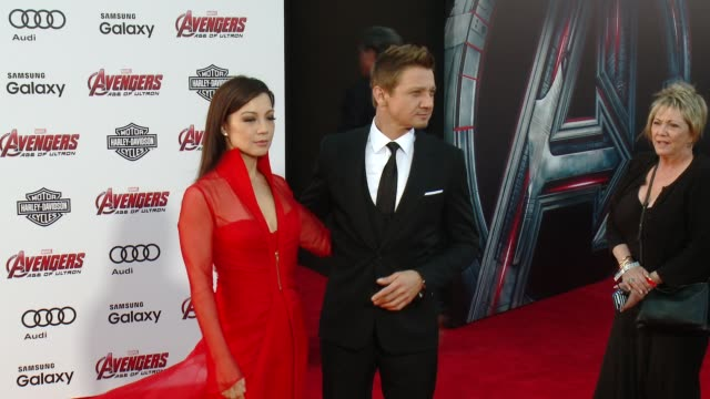 MingNa Wen and Jeremy Renner at The World Premiere of Marvel's Avengers Age of Ultron at Dolby Theatre on April 13 2015 in Hollywood California