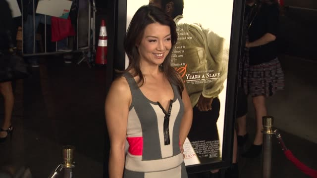 ming-na wen at 12 years a slave los angeles premiere on in los angeles, ca. - ming na stock videos & royalty-free footage