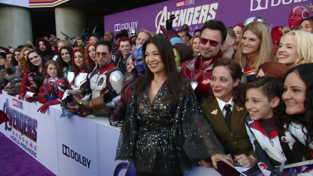 """ming-na wen at audi at the world premiere of """"avengers: endgame"""" in los angeles, ca 4/22/19 - ming na stock videos & royalty-free footage"""