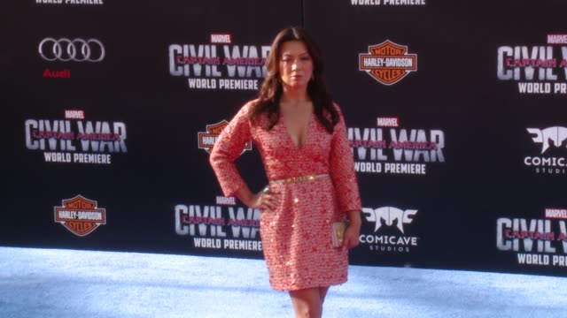 """ming-na wen at marvel's """"captain america: civil war"""" world premiere at dolby theatre on april 12, 2016 in hollywood, california. - ming na stock videos & royalty-free footage"""