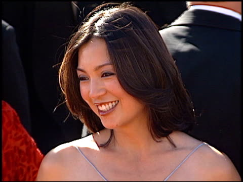 ming-na wen at the 2000 emmy awards at the shrine auditorium in los angeles, california on september 10, 2000. - shrine auditorium video stock e b–roll