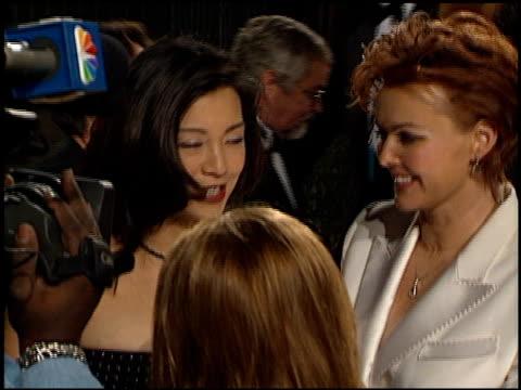 ming-na wen at the 2001 people's choice awards at the pasadena civic auditorium in pasadena, california on january 7, 2001. - ming na stock videos & royalty-free footage