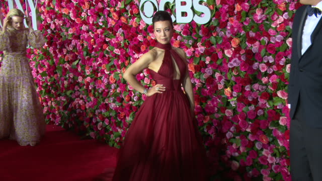 ming-na wen at the 2018 tony awards - red carpet at radio city music hall on june 10, 2018 in new york city. - ming na stock videos & royalty-free footage