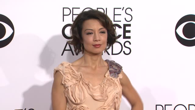 ming-na wen at the 40th annual people's choice awards - arrivals at nokia theatre l.a. live on in los angeles, california. - ming na stock videos & royalty-free footage