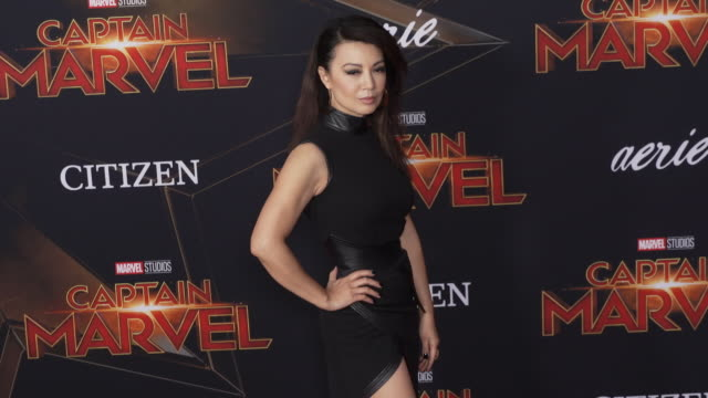 """ming-na wen at the """"captain marvel"""" world premiere at the el capitan theatre on march 04, 2019 in hollywood, california. - ming na stock videos & royalty-free footage"""