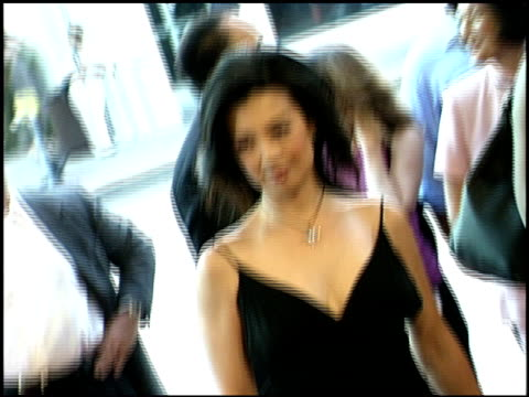ming-na wen at the 'final fantasy' premiere at the mann village theatre in westwood, california on july 2, 2001. - ming na stock videos & royalty-free footage