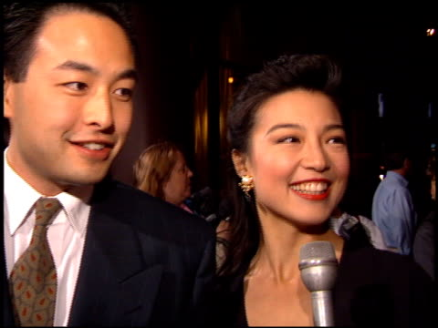 mingna wen at the 'love affair' premiere at dga theater in los angeles california on october 13 1994 - dga theater stock videos & royalty-free footage