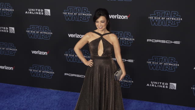 """ming-na wen at the premiere of disney's """"star wars: the rise of skywalker"""" on december 16, 2019 in hollywood, california. - ming na stock videos & royalty-free footage"""
