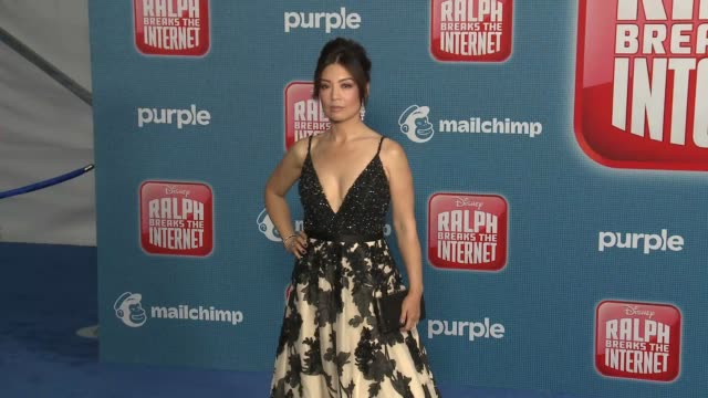 """ming-na wen at the """"ralph breaks the internet"""" world premiere at the el capitan theatre on november 05, 2018 in hollywood, california. - ming na stock videos & royalty-free footage"""