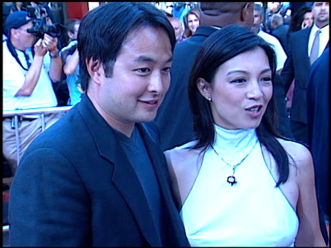 ming-na wen at the 'rush hour 2' premiere at grauman's chinese theatre in hollywood, california on july 26, 2001. - ming na stock videos & royalty-free footage