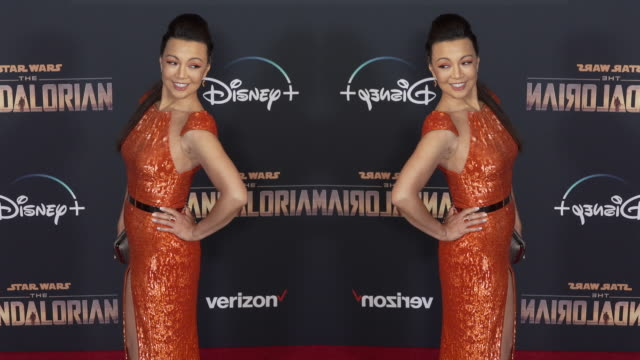 """ming-na wen at the """"the mandalorian"""" world premiere - ming na stock videos & royalty-free footage"""