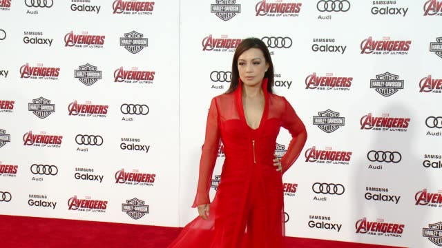"""ming-na wen at the world premiere of marvel's """"avengers: age of ultron"""" at dolby theatre on april 13, 2015 in hollywood, california. - ming na stock videos & royalty-free footage"""
