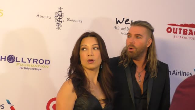 ming-na wen & chaz dean at the designcare gala at the lot studios on august 08, 2015 in los angeles, california. - ming na stock videos & royalty-free footage