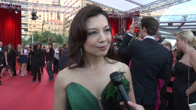 ming-na wen on her dress, on how excited she is to be part of tonight, on her best memories from the festival and on meeting the fans. jokes that she... - ming na stock videos & royalty-free footage