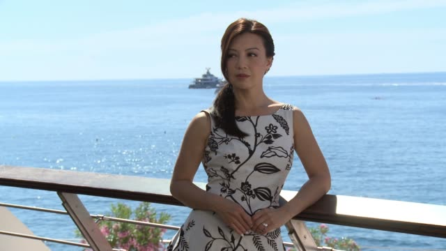 ming-na wen on june 17, 2015 in monte-carlo, monaco. - ming na stock videos & royalty-free footage