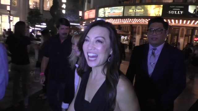 ming-na wen talks about why superhero's wear tights at the grove in hollywood - celebrity sightings on september 19, 2016 in los angeles, california. - ming na stock videos & royalty-free footage