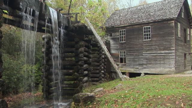 ms, mingus mill, great smoky mountains national park, north carolina, usa - mill stock videos & royalty-free footage