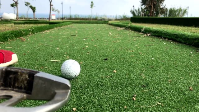 mini golf - golf grass stock videos & royalty-free footage