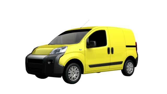 vídeos y material grabado en eventos de stock de mini van spin aislado con mate de luminancia - grey colour