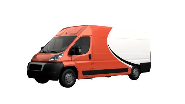 mini van spin isolated with luma matte - luma matte stock videos & royalty-free footage
