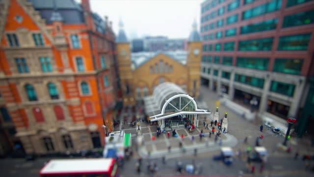 Miniature London -  Liverpool Street Station Entrance from Bishops Gate in the City of London
