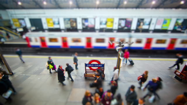 miniature london - london underground's earls court station - earls court stock videos & royalty-free footage