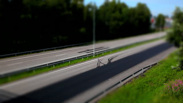 miniature look traffic 1080p - saturated colour stock videos & royalty-free footage