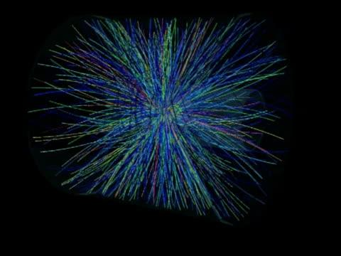 Mini-Big Bang collision at the Large Hadron Collider (LHC).