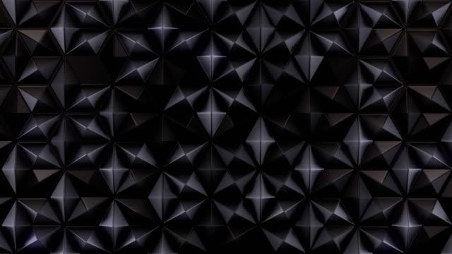 minimales 3d-rendering dunkler hintergrund. waben-design. geometrische nahtlose schleife animationsmuster. 4k, uhd-auflösung - rohmaterial stock-videos und b-roll-filmmaterial