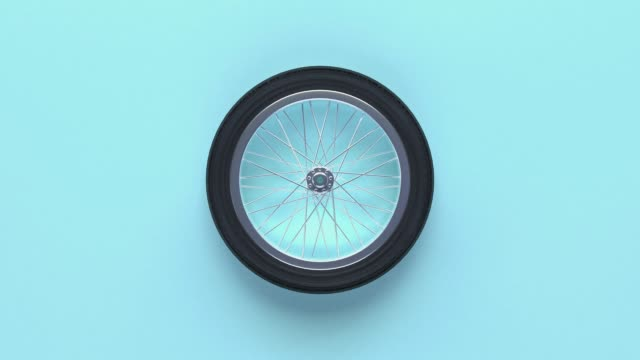 minimal abstract wheels blue background 3d rendering motion - wheel stock videos & royalty-free footage