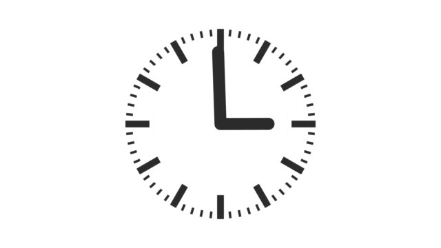 minimal wall clock timelapse animation alpha channel seamless loop - clock stock videos & royalty-free footage
