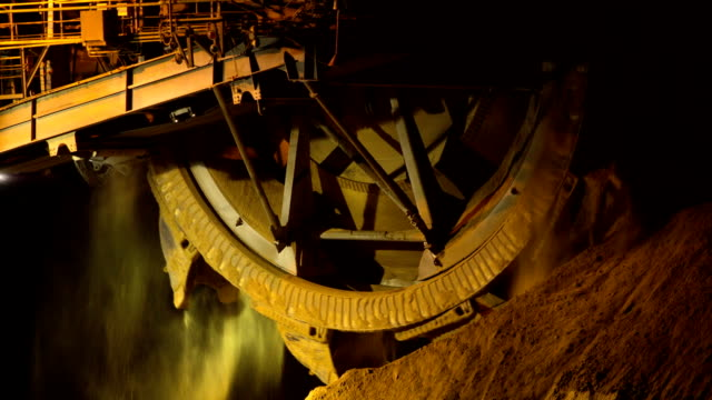 mining - bucket wheel - mine stock videos & royalty-free footage