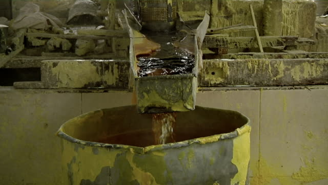 MS Mining of liquid sulfur / Ijen, Java, Indonesia