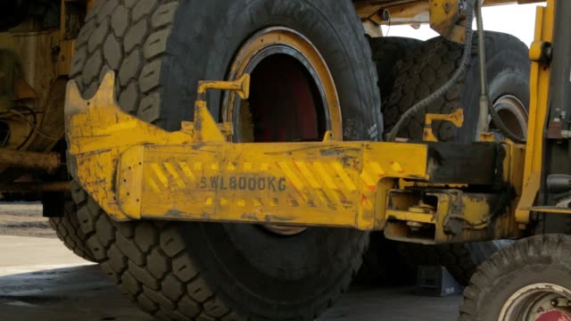 mining truck tire change - mining stock videos and b-roll footage