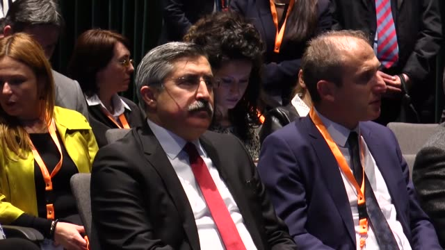 minister of culture of albania mirela kumbaro and turkish deputy minister of culture and tourism huseyin yayman attend the third ministerial... - tirana stock videos & royalty-free footage