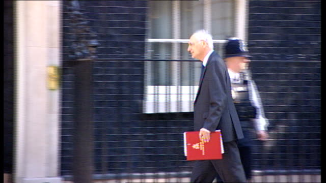 ministers arrive for cabinet meeting england london downing street no10 ext eric pickles mp arriving / lord strathclyde arriving / george young... - dominic grieve stock videos and b-roll footage