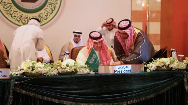 ministers of foreign affairs of the 57 countries part of the organisation of islamic cooperation met on monday in saudi arabia ahead of an... - jiddah bildbanksvideor och videomaterial från bakom kulisserna