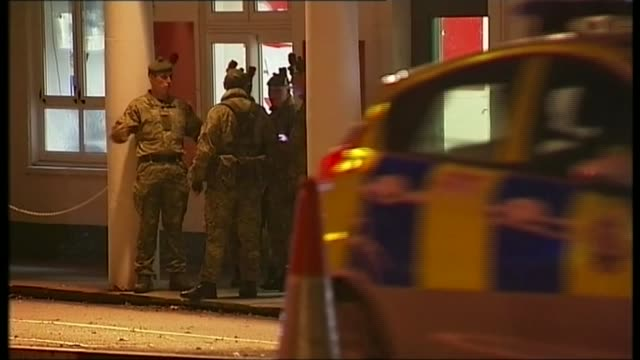 ministry of defence pays compensation to victims of sex attacks by libyan cadets; t04111404 / tx 4.11.2014 england: cambridgeshire: bassingbourn... - 米国国防総省点の映像素材/bロール