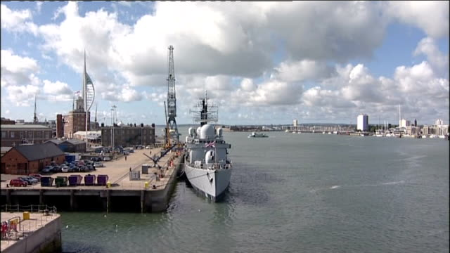 ministry of defence signs contract for two new aircraft carriers hms ark royal and signing ceremony england hampshire portsmouth ext royal navy flag... - admiral nelson stock videos and b-roll footage