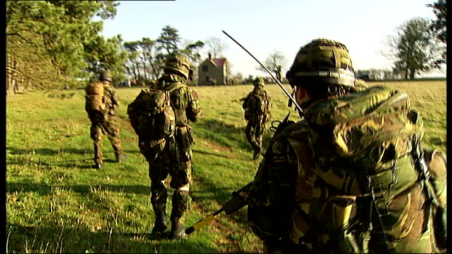 ministry of defence under pressure to reform closed military justice system r30120901 / location unknown ext members of territorial army infantry... - military training stock videos & royalty-free footage