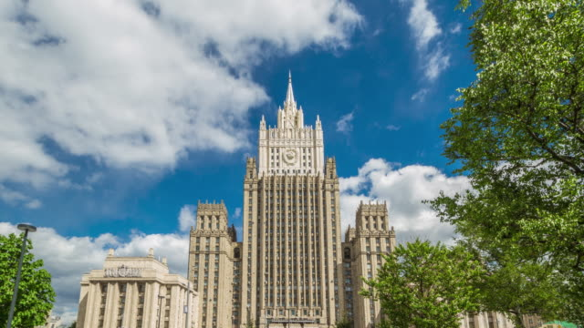 ministry of foreign affairs, moscow, russia - government minister stock videos & royalty-free footage