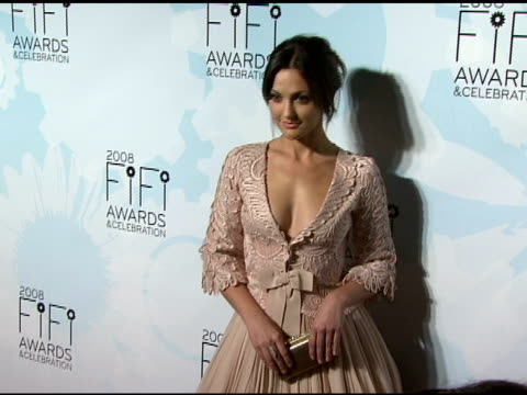 Minka Kelly at the Fragrance Foundation Presents 36th Annual FiFi Awards and Celebration at the Park Avenue Armory in New York New York on May 20 2008