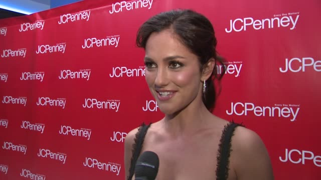 minka kelly on why she came to celebrate with jcpenney, what she thinks of the new designer lines and her thoughts on jcpenney stepping up their... - dolce & gabbana点の映像素材/bロール