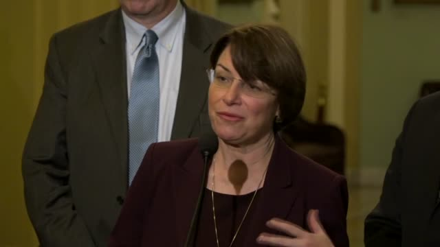 minnesota amy klobuchar tells reporters at a weekly briefing that for years the farm bill was bipartisan a source of food programs and conservation... - years stock videos and b-roll footage