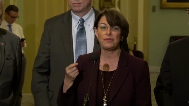 minnesota amy klobuchar tells reporters at a weekly briefing that she had expected president donald trump in a speech on lowering prescription drug... - prescription drug costs stock videos & royalty-free footage
