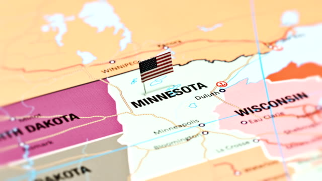 minnesota from usa states - national flag stock videos & royalty-free footage